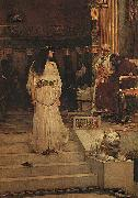 John William Waterhouse Marianne Leaving the Judgment Seat of Herod oil painting artist