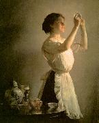 Joseph Decamp The Blue Cup oil painting reproduction