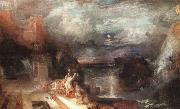 Joseph Mallord William Turner Hero and Leander painting