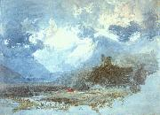 Joseph Mallord William Turner Dolbadern Castle oil on canvas