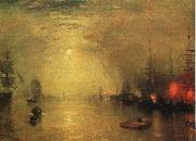 Joseph Mallord William Turner Keelman Heaving in Coals by Night oil on canvas