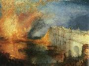 Joseph Mallord William Turner The Burning of the Houses of Parliament oil on canvas