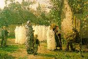 Jules Breton The Communicants oil on canvas