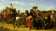 Jules Breton The Vintage at the Chateau Lagrange oil on canvas