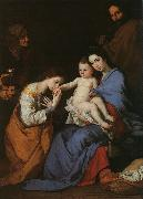 Jusepe de Ribera The Holy Family with Saints Anne Catherine of Alexandria oil
