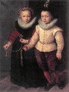 KETEL, Cornelis Double Portrait of a Brother and Sister sg oil on canvas