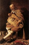 LA TOUR, Georges de The Hurdy-gurdy Player oil painting reproduction