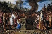 LASTMAN, Pieter Pietersz. Orestes and Pylades Disputing at the Altar s painting