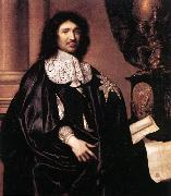 LEFEBVRE, Claude Portrait of Jean-Baptiste Colbert sg oil on canvas