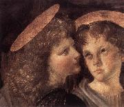 LEONARDO da Vinci The Baptism of Christ (detail) sg oil on canvas