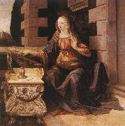 LEONARDO da Vinci Annunciation (detail) sg77 oil on canvas