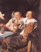 LEYSTER, Judith Carousing Couple oil on canvas