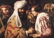 LIEVENS, Jan Pilate Washing his Hands sg oil on canvas