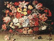 LINARD, Jacques Basket of Flowers 67 oil on canvas