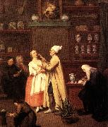 LONGHI, Pietro The Spice-vendor's shop g oil painting reproduction