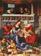 Lucas  Cranach The Holy Family oil painting reproduction