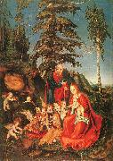 Lucas  Cranach The Rest on the Flight to Egypt oil on canvas