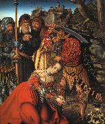Lucas  Cranach The Martyrdom of St.Barbara oil on canvas