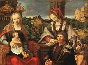 Lucas van Leyden Madonna and Child with Mary Magdalene and a Donor oil painting
