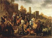 MOEYAERT, Claes Cornelisz. Moses Ordering the Slaughter of the Midianitic ag oil on canvas
