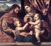 MORETTO da Brescia Holy Family su painting