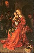 Martin Schongauer Holy Family painting