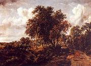 Meindert Hobbema Road on a Dyke oil on canvas
