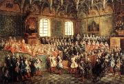 Nicolas Lancret Seat of Justice in the Parliament of Paris in 1723 oil painting reproduction