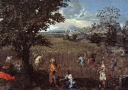 Nicolas Poussin The Summer  Ruth and Boaz oil painting