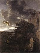 Nicolas Poussin Hagar and the Angel painting