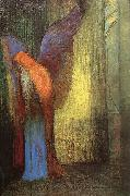 Odilon Redon Winged Old Man with a Long White Beard oil