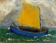 Odilon Redon The Mystical Boat oil