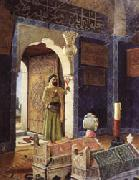 Osman Hamdy Bey Old Man before Children's Tombs painting
