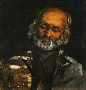 Paul Cezanne Head of and Old Man painting