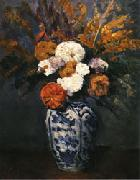 Paul Cezanne Dahlias oil painting reproduction