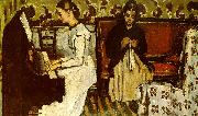 Paul Cezanne Girl at the Piano oil painting reproduction