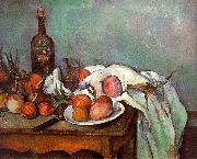 Paul Cezanne Onions and Bottles oil painting