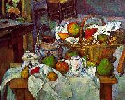 Paul Cezanne Vessels, Basket and Fruit oil painting