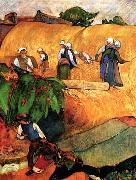 Paul Gauguin Harvest Scene painting