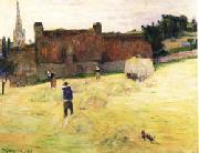 Paul Gauguin Hay-Making in Brittany painting