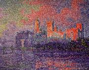 Paul Signac The Papal Palace, Avignon oil painting artist