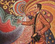 Paul Signac Portrait of M.Felix Feneon in 1890 oil painting artist