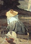 Paul-Camille Guigou The Washerwoman oil on canvas