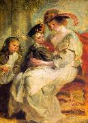 Peter Paul Rubens Helene Fourment and her Children, Claire-Jeanne and Francois painting