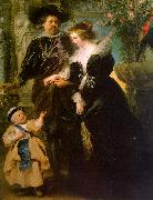 Peter Paul Rubens Rubens with his Wife, Helene Fourmont and Their Son, Peter Paul oil on canvas