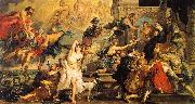 Peter Paul Rubens The Apotheosis of Henry IV and the Proclamation of the Regency of Marie de Medici on the 14th of May oil on canvas