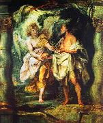 Peter Paul Rubens The Prophet Elijah Receiving Bread and Water from an Angel oil on canvas