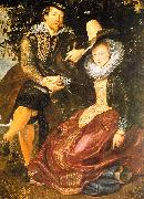 Peter Paul Rubens Rubens with His First Wife, Isabella Brandt, in the Honeysuckle Bower oil on canvas