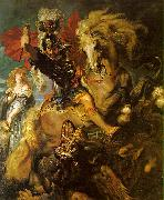 Peter Paul Rubens St George and the Dragon oil on canvas
