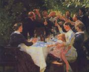 Peter Severin Kroyer Hip Hip Hooray painting